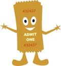 Ticket admit one Royalty Free Stock Photo