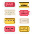 Ticket admit one set Royalty Free Stock Photo