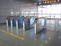 Ticket barrier in high speed railway station of south nanjing Stock Images
