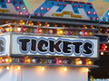 Ticket booth for the arcade of a neighborhood carnival generic at the fair Stock Photography