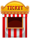 Ticket booth at the carnival Royalty Free Stock Photo