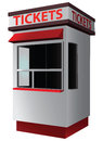 Ticket booth for the sale of tickets for attractions and sports vector illustration Royalty Free Stock Image
