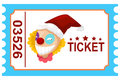Ticket circus clown illustration of isolated Royalty Free Stock Photography