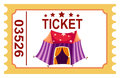 Ticket circus tent illustration of isolated Stock Photography