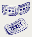 Ticket. Doodle style Royalty Free Stock Images
