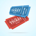 Ticket Fly Blank Admit Set Retro Old Style. Vector Royalty Free Stock Photo