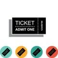 Ticket Icon Isolated on White Background