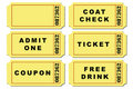 Ticket Illustration Set Stock Photography