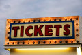 Ticket sale Royalty Free Stock Photo