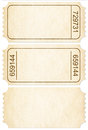 Ticket set paper ticket stubs isolated with clipping path on white included Stock Photography