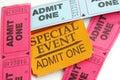 Ticket stubs Royalty Free Stock Photo