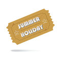 Ticket summer holiday icon isolated admit one vintage paper vector eps Royalty Free Stock Image