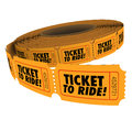Ticket to Ride Roll Passes Admission Riding Travel Fun Royalty Free Stock Photo