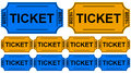 The tickets d generated picture of some isolated on white Royalty Free Stock Photography