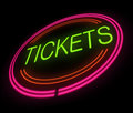 Tickets sign illustration depicting an illuminated Royalty Free Stock Photos