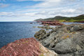 Tickle cove seascape at newfoundland Stock Photos