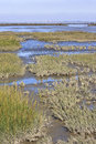 Tidal influence waddenzee in the netherlands wadden sea is largest unbroken system of intertidal sand and mud flats world it is a Stock Images
