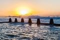 Tidal Pool Ocean Waves Dawn Energy Royalty Free Stock Photo