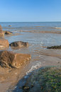 Tide fills rockpool rock pool sea ocean washing in to fill Royalty Free Stock Image