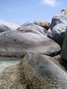 Tide Pool and Boulders Royalty Free Stock Photos