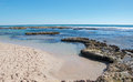 Tide Pools and Indian Ocean: Blue Holes Royalty Free Stock Photo
