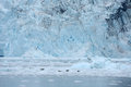 Tidewater glacier blue color of in prince william sound in alaska Stock Photography
