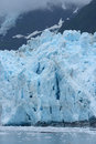 Tidewater glacier blue color of in prince william sound in alaska Royalty Free Stock Photos
