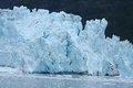 Tidewater glacier blue color of in prince william sound in alaska Royalty Free Stock Image