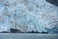 Tidewater glacier blue color of in prince william sound in alaska Stock Photo