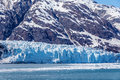 Tidewater glacier glacier bay alaska face of margerie during spring melt national park usa Royalty Free Stock Image