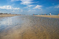 Tidewater nobska beach shallow clear at on cape cod in massachusetts Royalty Free Stock Image