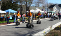 Tidewater shriner s on segways gloucester virginia april in the daffodil parade april in gloucester virginia in its th year the Stock Photography