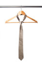 Tie and coat hanger Royalty Free Stock Photo