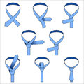 Tie double simple knot instruction visual of tying a in the style of eps Stock Photography