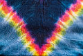 Tie dye hippy pattern method for colouring cloth Stock Photo