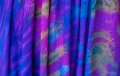 Tie dye pattern colorful on cotton fabric Stock Images
