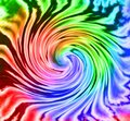 Tie Dye rainbow colorful spiral background. Royalty Free Stock Photo