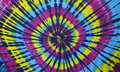 Tie dye spiral tye retro hippy Royalty Free Stock Photos