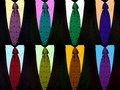 Tie and suit in pop-art style Stock Photography