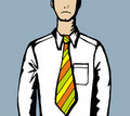 The tie at work is too tight Royalty Free Stock Photo