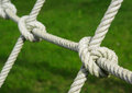 Tied knot on rope Royalty Free Stock Image