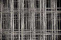 Tied Rebar Reinforcing Steel Panels Royalty Free Stock Photos