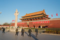 Tienanmen gate the gate of heavenly peace beijing china dec on dec it is a famous monument in Royalty Free Stock Image