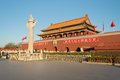 Tienanmen gate the gate of heavenly peace beijing china dec on dec it is a famous monument in Royalty Free Stock Photo