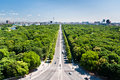 Tiergarten and berlin citry center ponarama view germany Stock Images