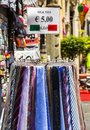 Ties for sale at a market stall rome rome province lazio italy Royalty Free Stock Photos