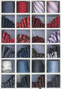 Ties in shapes Royalty Free Stock Photo