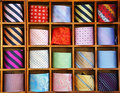 Ties on the shelf Stock Photos