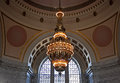 Tiffany chandelier, Washington state capitol Royalty Free Stock Photo