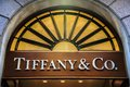 Tiffany co shoppar i milan Arkivfoto